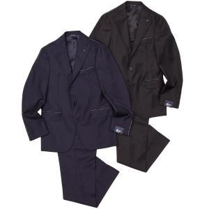 Gabo(ガボ)NEW NAPOLI Super130'S ウール ツイル 1プリーツ シングル3Bスーツ|realclothing