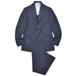 Stile Latino(スティレ ラティーノ)ウール モヘア ピンヘッド ピンストライプ 1プリーツ シングル3Bスーツ|realclothing