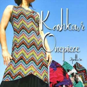 カシュクール ワンピース チュニック 2パターン バードプリント アフリカン柄 ノースリーブ エスニック レディースファッション realcolor