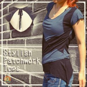 美シルエット モード デザイン カットソー アシンメトリー シンプル 半袖 Tシャツ エスニック サイケ レディースファッション realcolor