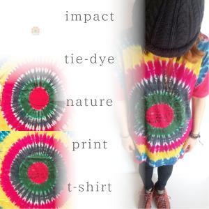 カラフル タイダイ 半袖Tシャツ ユニセックス tie-dye Tシャツ アジアン ヨガ フェス メンズ レディースファッション realcolor