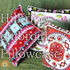 カラフル エスニック 刺繍 クッションカバー チェーンステッチ モン族 クッションケース ピローケース インテリア小物|realcolor