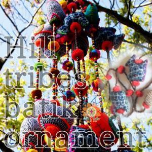 エスニック ハンドメイド オーナメント モン族 藍染 魚 民族雑貨 インテリア小物 ホームデコレーション アジアン|realcolor