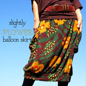 エスニック ほんのりバルーンスカート ボタニカル あったか素材 起毛 膝丈スカート アジアン 冬スカート オーバースカート realcolor
