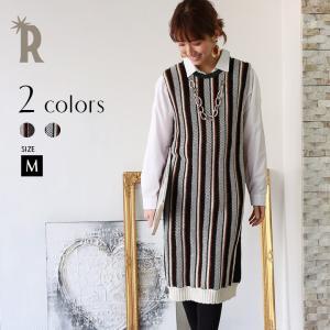 チュニック【特別価格】(752-65025)Buyer's select Made in Japan 【Yamagata Knit】マルチストライプチュニックワンピース▼|realcube-yj