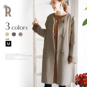 [サイズ(cm)]  M:着丈96.5 バスト110 裾幅65 肩幅41 袖丈65 袖口幅18 袖幅...