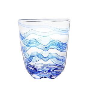 【商品説明】 すっきりとしたデザインの中に手づくりの美しさを感じられます。清涼感あふれるブルーの波ロ...