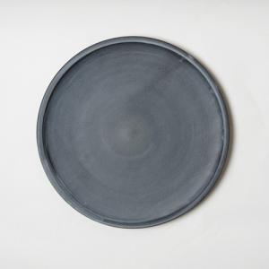 大皿 3RD CERAMICS サードセラミックス シンプル モノトーン 食器 黒泥皿 8寸 約Φ24cm|realjapanproject