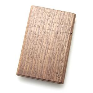[木製][木の名刺入れ]島根県/ヤクモ家具製作所 \パチッ/と蓋の音が最高!木製名刺入れ-ウォルナット[カードケース](女性用/男性用/メン|realjapanproject