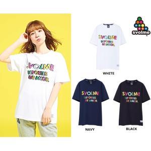 《特価》SVOLME(スボルメ)カラフルテキストTシャツ 1193-33400 半袖Tシャツ サッカ...