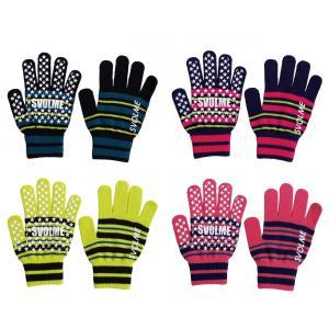 【特価】SVOLME スボルメ 手袋 新作 ジュニア サッカー フットサル ランニング ボーダーニットグローブ 183-88229 レアルスポーツ|realsports
