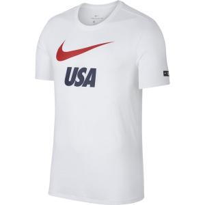 ナイキ Tシャツ 2018 新作 メンズ サッカー アメリカ代表 DRY SLUB PRSSN 半袖 USA おしゃれ サッカー ウェア 888885-100 レアルスポーツ|realsports