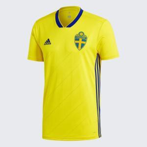 アディダス サッカー スウェーデン代表 ホーム レプリカ ユニフォーム S/S BR3838|realsports