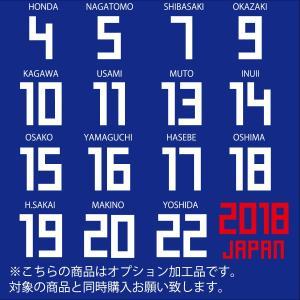 サッカー 日本代表 オフィシャル マーキング 2018  ジュニア用 レプリカ 半袖 ユニフォーム ...