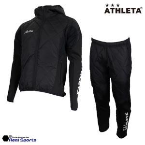 《Mサイズ限定特価》ATHLETA(アスレタ)中綿ウォーマースーツ YW152-04112 ブラック サッカー フットサル 防寒 レアルスポーツ|realsports