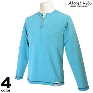 アルコットヒル ALCOTT HILL 長袖カットソー メンズ 2021春夏 キーネック 胸ポケット ワンポイント 13-1503-10|realtree