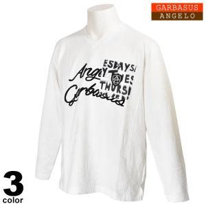 セール 30%OFF アンジェロガルバス ANGELO GARBASUS 長袖カットソー メンズ 2020春夏 Vネック 胸ポケット ジャガード 01-1701-03|realtree