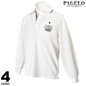 パジェロ PAGELO 長袖ポロシャツ メンズ 2020春夏 鹿の子 ロゴ刺繍 01-1802-07|realtree