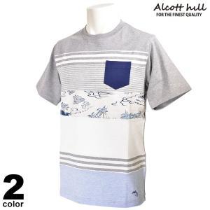 アルコットヒル ALCOTT HILL 半袖カットソー メンズ 2020春夏 ボーダー 01-2505-10|realtree