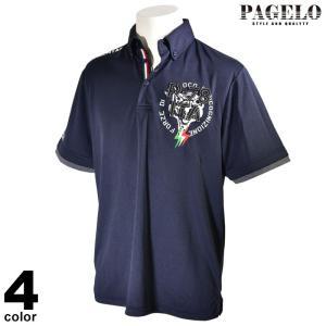 パジェロ PAGELO 半袖 ポロシャツ メンズ 2020春夏 ボタンダウン ロゴ 01-2801-07|realtree