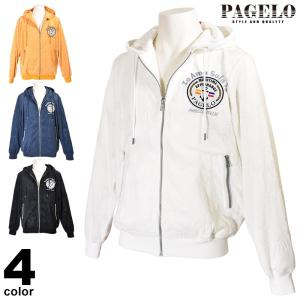 パジェロ PAGELO 長袖パーカー メンズ 2020春夏 パイル地 ロゴ 01-3103-07|realtree