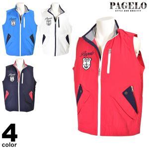 大きいサイズ パジェロ PAGELO ベスト メンズ 春夏 ジップアップ ロゴ 01-3507-072-4L|realtree