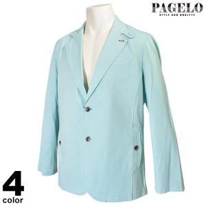 パジェロ PAGELO 長袖テーラード ジャケット メンズ 2020春夏 ストライプ 麻 01-4101-07c realtree