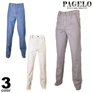 PAGELO パジェロ ロングパンツ メンズ 2020春夏 ワンタック ワッペン ロゴ 01-5102-07|realtree