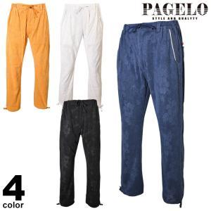 PAGELO パジェロ ロングパンツ メンズ 2020春夏 ハイビスカス パイル地 ロゴ 01-5303-07|realtree