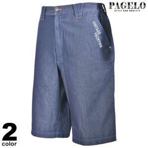 パジェロ PAGELO ショートパンツ メンズ 2021春夏 デニム ワッペン ロゴ 13-5505-07|realtree