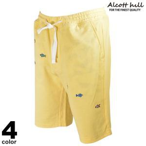 セール 30%OFF ALCOTT HILLアルコットヒル ショートパンツ メンズ 2020春夏 刺繍 ゴム紐 魚 フィッシュ 01-5505-10|realtree