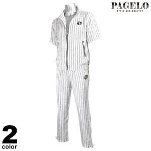 パジェロ PAGELO 半袖上下セット メンズ 2021春夏 セットアップ ストライプ 13-6201-07 realtree