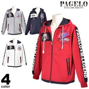 パジェロ PAGELO 長袖 パーカー メンズ 2020春夏 ジップアップ ロゴ 01-6504-07|realtree