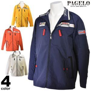 大きいサイズ パジェロ PAGELO ナイロンブルゾン メンズ 春夏 ジップアップ ロゴワッペン 3L 03-3107-071|realtree