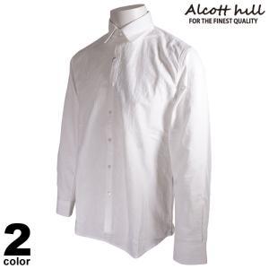 セール 30%OFF ALCOTT HILL アルコットヒル 長袖 カジュアルシャツ メンズ 2020秋冬 刺繍 ロゴ 05-1002-10|realtree
