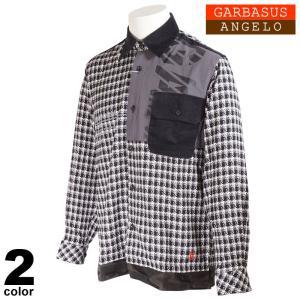 セール 30%OFF ANGELO GARBASUS アンジェロガルバス カジュアルシャツ メンズ 2020秋冬 千鳥柄 迷彩柄 ロゴ 05-1105-03|realtree