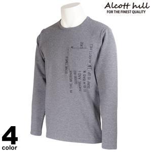 セール 30%OFF ALCOTT HILL アルコットヒル 長袖 カットソー メンズ 2020秋冬 クルーネック ロゴ サイドファスナー 05-1504-10|realtree