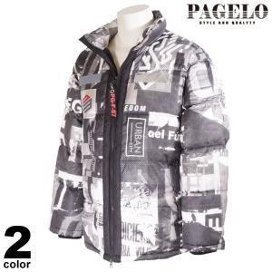 PAGELO パジェロ ダウンジャケット メンズ 2020秋冬 総柄 ロゴ プリント 05-3101-06|realtree