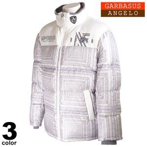 セール 30%OFF ANGELO GARBASUS アンジェロガルバス ダウンジャケット メンズ 2020秋冬 総柄 バックプリント ロゴ 05-3102-03|realtree
