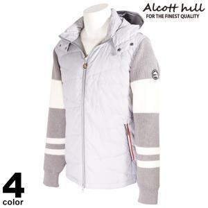 セール 30%OFF ALCOTT HILL アルコットヒル ダウンジャケット メンズ 2020秋冬 フード取り外し可 ジップアップ ボーダー ロゴ 05-3103-10|realtree