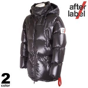 セール 30%OFF After label アフターラベル ダウンジャケット メンズ 2020秋冬 フード取り外し可能 インポート ロゴ 05-3112-42|realtree