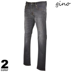 セール 30%OFF ジーノ Gino デニムパンツ メンズ 2020秋冬 ノータックル シンプル ステッチ ロゴ ワッペン 05-5304-02|realtree
