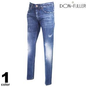 セール 30%OFF DONTHEFULLER ドンザフーラー デニムパンツ メンズ 2020秋冬 インポート ダメージ イタリア製 ロゴ 05-5306-36|realtree
