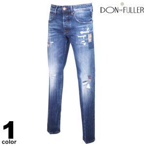 セール 30%OFF DONTHEFULLER ドンザフーラー デニムパンツ メンズ 2020秋冬 インポート ダメージ イタリア製 ロゴ 05-5307-36|realtree