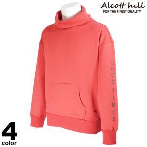 セール 30%OFF ALCOTT HILL アルコットヒル トレーナー メンズ 2020秋冬 バックプリント タートルネック ロゴ 05-6505-10|realtree