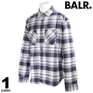 セール 30%OFF BALR. ボーラー 長袖 カジュアルシャツ メンズ 2020秋冬 チェック柄 バックプリント ロゴ 08-1001-52|realtree