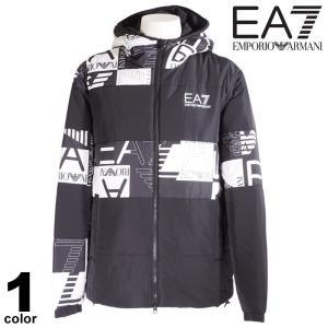 セール 30%OFF EA7 エンポリオアルマーニ EMPORIO ARMANI ブルゾン メンズ 2020秋冬 フルジップ フード付き ロゴ 08-3101-52|realtree