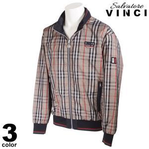 VINCCI ヴィンチ ブルゾン メンズ 2020秋冬 ジップアップ チェック柄 ロゴ 08-3102-09|realtree