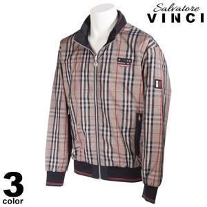 大きいサイズ VINCCI ヴィンチ ブルゾン メンズ 秋冬 ジップアップ チェック柄 ロゴ 08-3102-091|realtree
