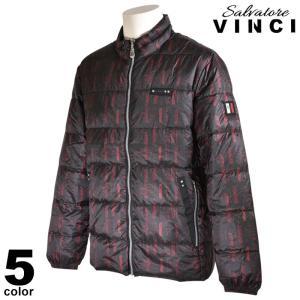 大きいサイズ ヴィンチ VINCI ダウンジャケット メンズ 秋冬 ジップアップ 中綿 袖リブ ステッチ ロゴ 総柄 ワッペン 08-3104-091|realtree